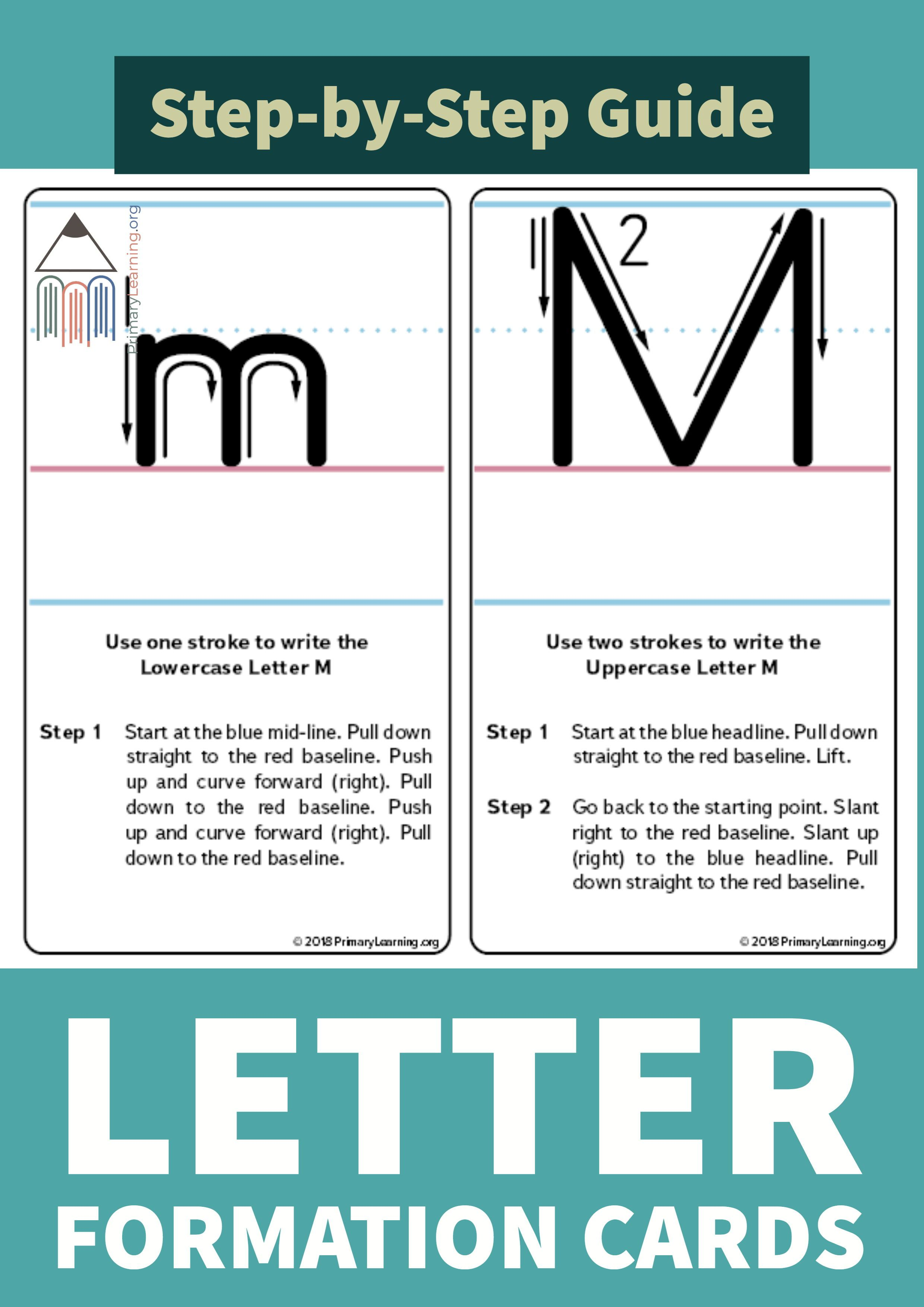 How To Write The Letter M  Letter writing for kids, Lettering