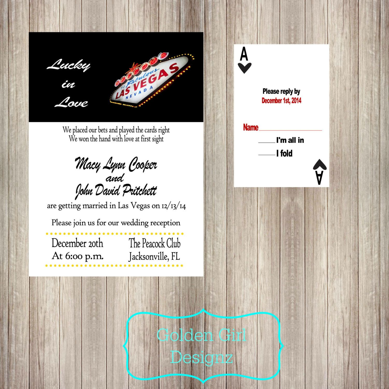 DIY Printable Las Vegas Lucky in Love Wedding by GoldenGirlDesignz ...