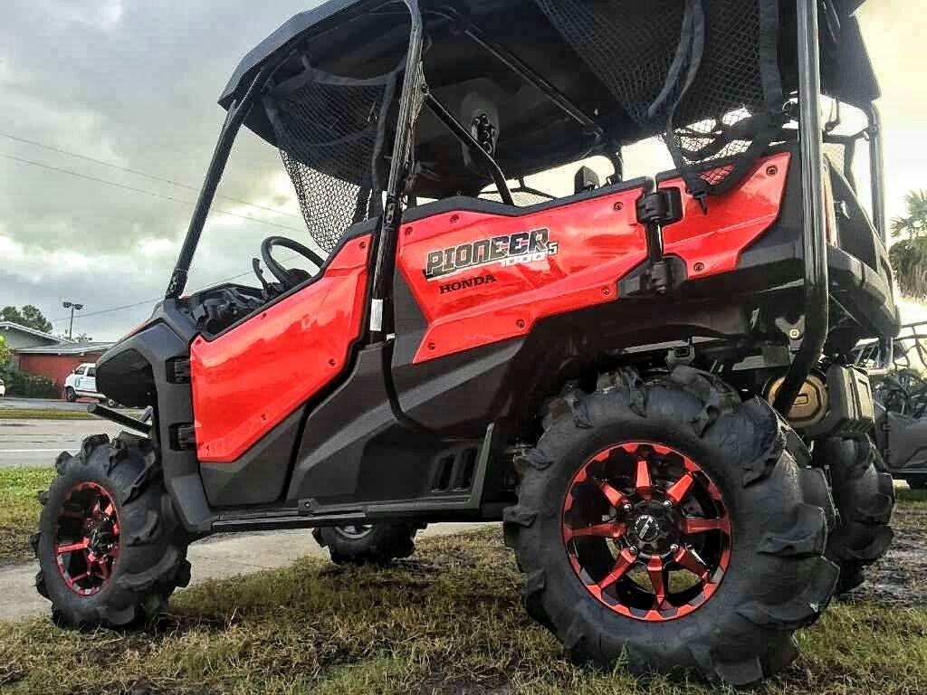 Custom honda pioneer 1000 on 30 tires wheels itp monster mayhem sti