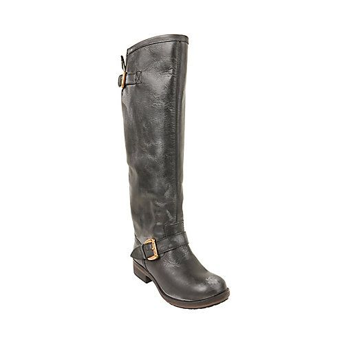 Todopoderoso trama derrochador  Steve Madden Lindley boots, love the bright red zipper in the back | Boots,  Womens boots flat, Womens boots