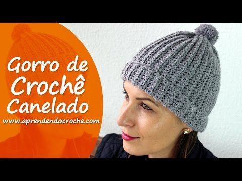 Gorro de Crochê Canelado - Aprendendo Crochê - YouTube Touca De Tricô 380a97836d1