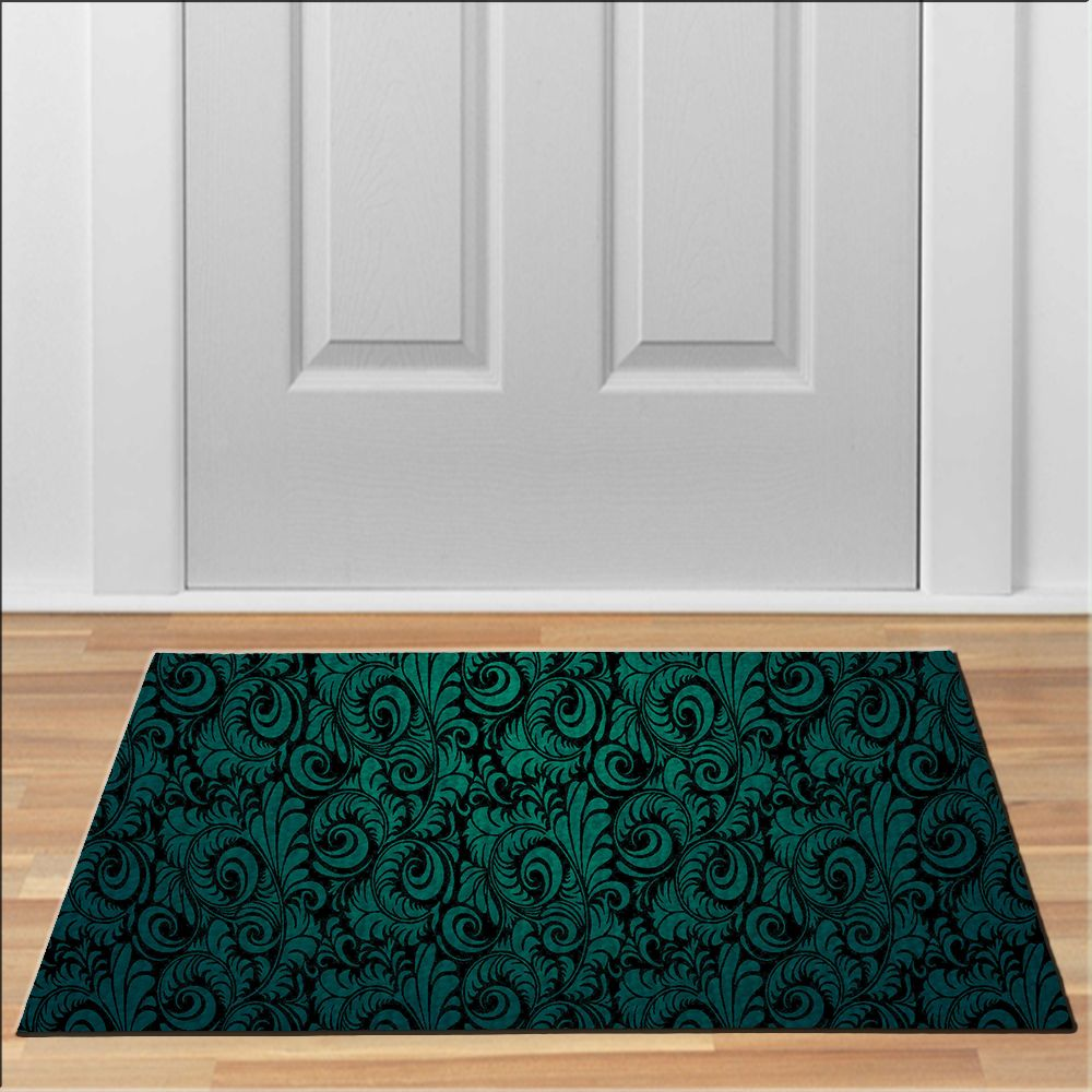 Nice DARK GREEN Doormat Floor Durable Non Slip