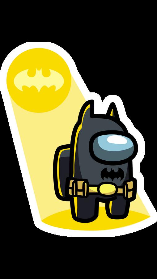 Among Us Batman Sticker In 2021 Batman Stickers Cute Stickers Batman