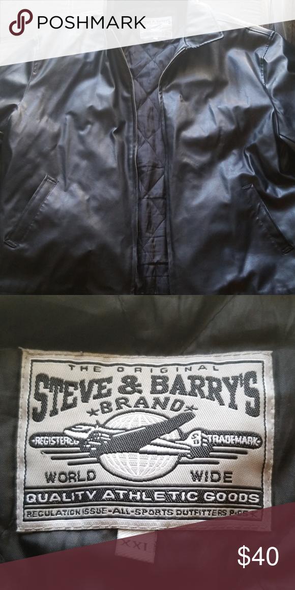 3978b828f540f STEVE & BARRY'S Jacket Steve and Barry's Leather Jacket. Black and XXL.  Smoke free home. No rips or tears. Steve & Barry's Jackets & Coats Bomber &  Varsity