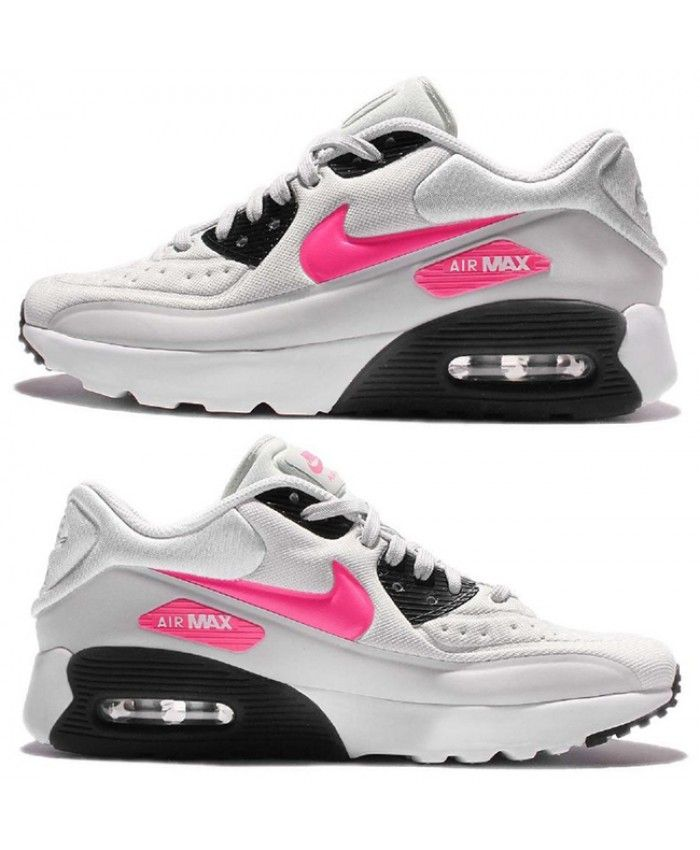 Nike Air Max 90 Ultra SE GS Color Grey Pink Trainer