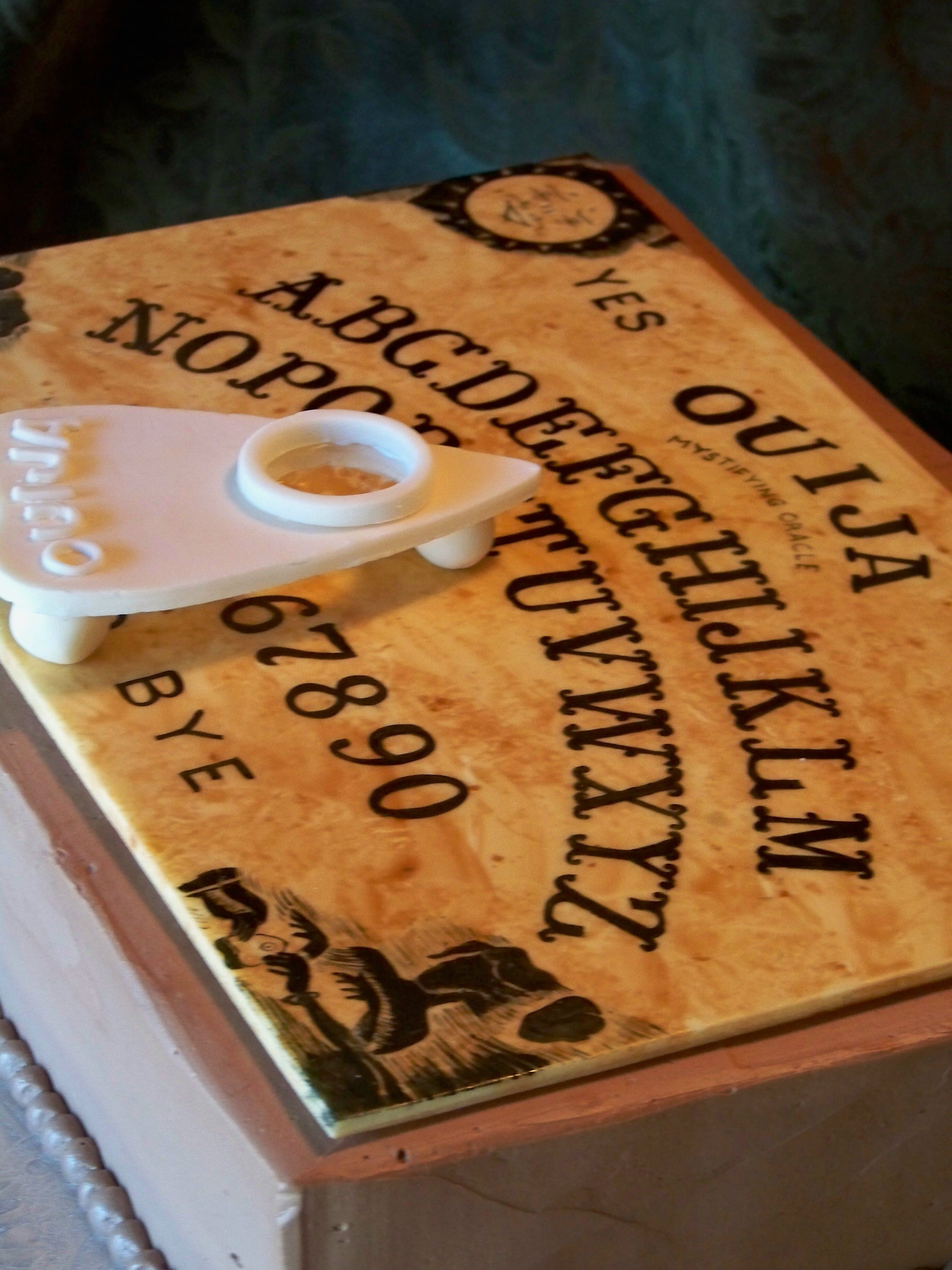 Ouija Board Cake Not So Much Shaped As Handpainted Details To Look Realistic