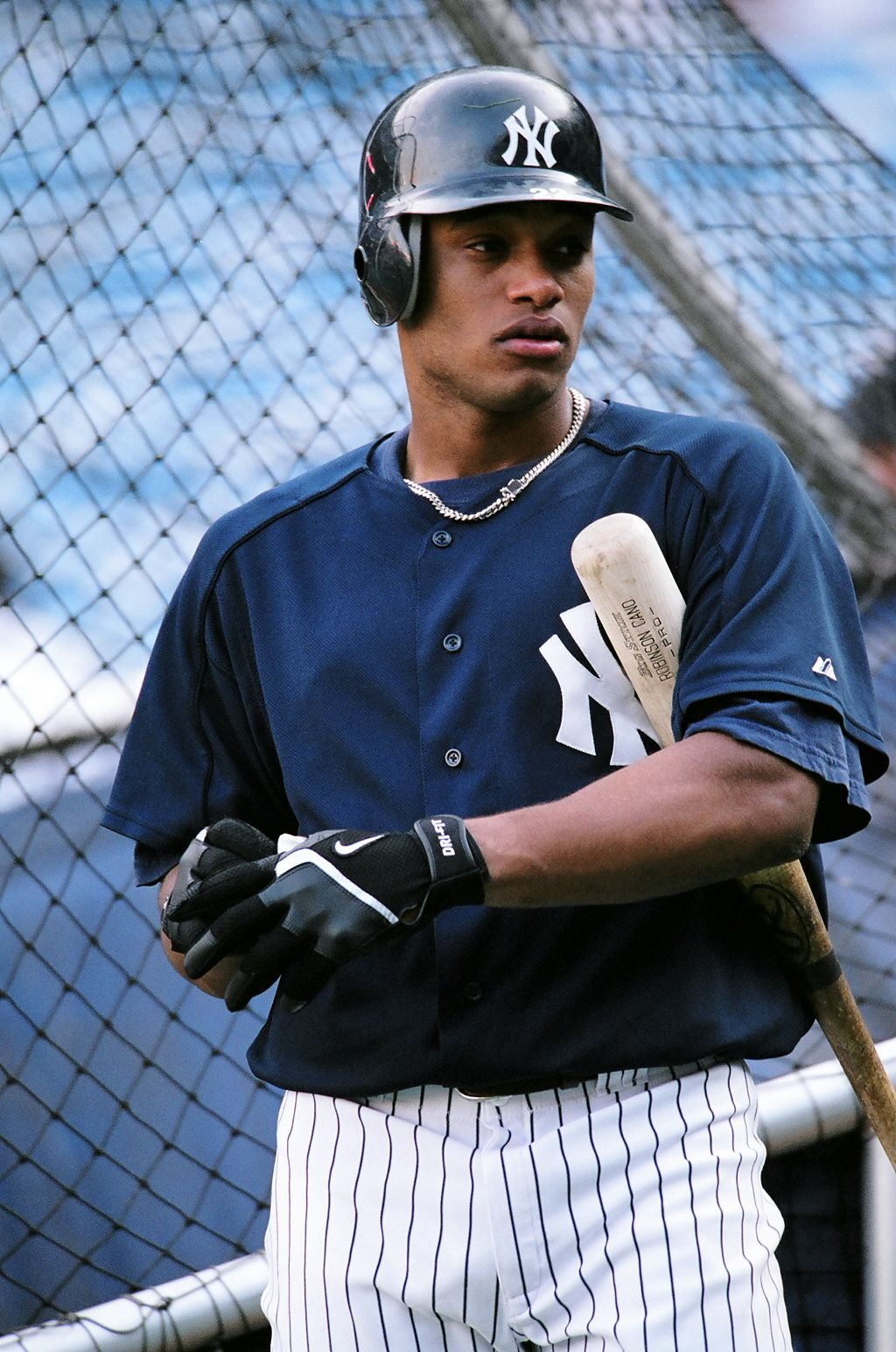 A Young Robinson Cano In September 2005 During Pre Game Batting Practice New York Yankees Robinson Cano Mlb Baseball