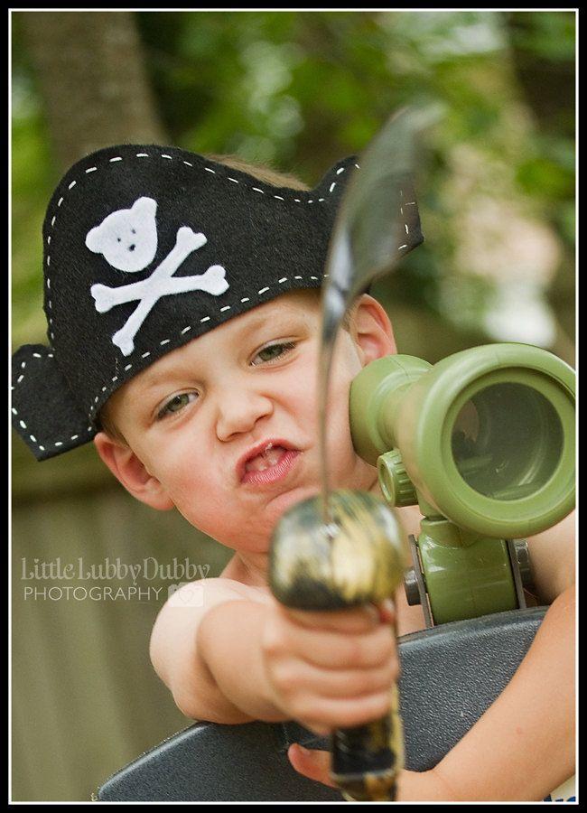 Children's Felt Pirate Hat. $5.00, via Etsy.