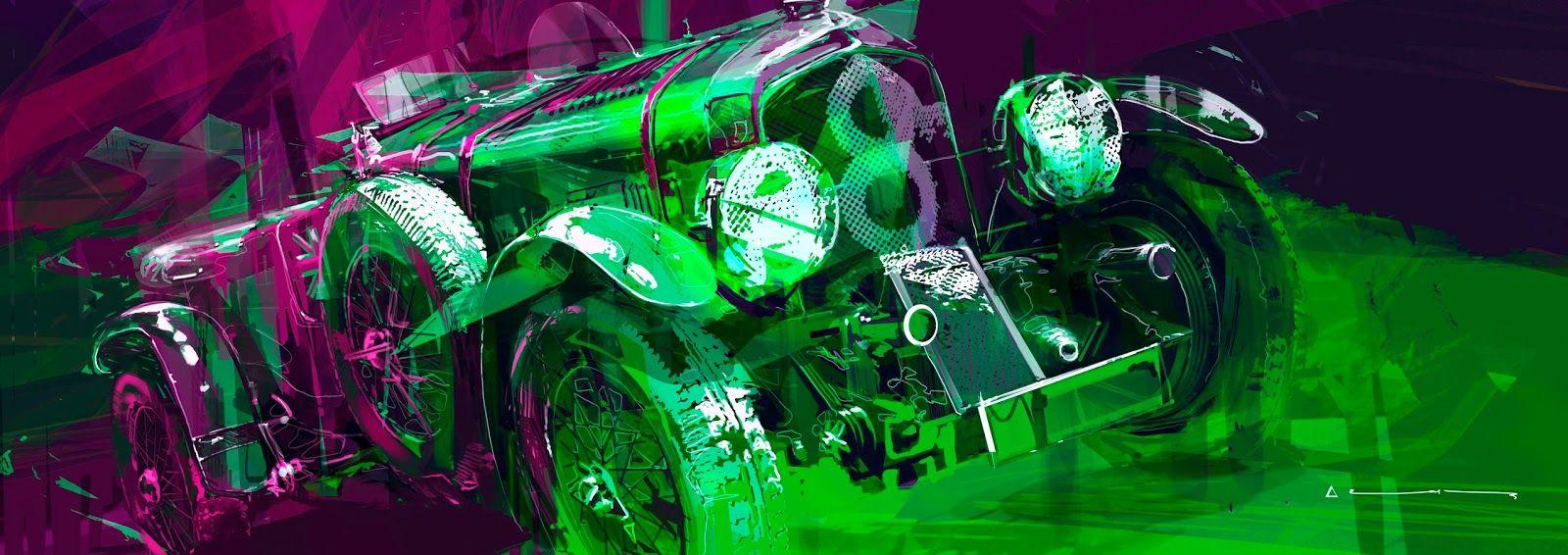 Bentley blower arthur coudert blueprint art and car art bentley blower arthur coudert bentley blowerblueprint artconcept malvernweather Gallery