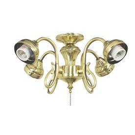 Harbor Breeze 4 Light Burnished Brass Ceiling Fan Light Kit With