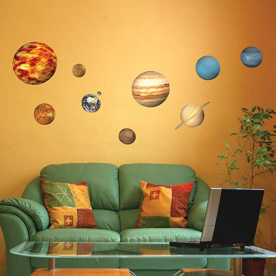 Solar System Planets Wall Sticker | Wall sticker, Walls and Bedrooms