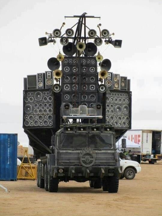 Mad Max Fury Road Set Photos Showcase An Enormous Speaker Truck
