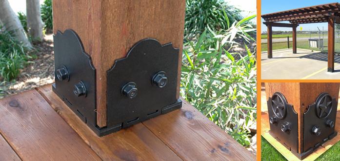 8x8 Post Base Livbuildingproducts Ornamental Wood Wood Pergola Pergola Kits
