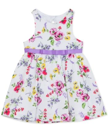 rare editions floral embroidered dress
