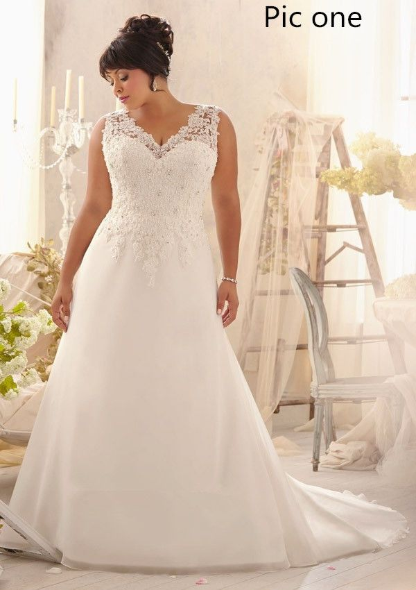 2014 New white/ivory lace wedding dress gown Plus Custom Size:18-20-22-24-26-28+