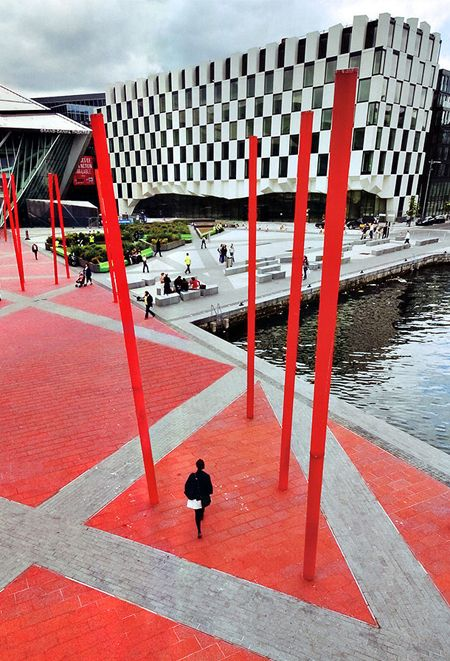 """Read """"Good Design Is Sustainable"""" in The Dirt, a blog of the American Society of Landscape Architects. Image: Grand Canal Square Dublin by Martha Schwartz Partners / Martha Schwartz Partners"""