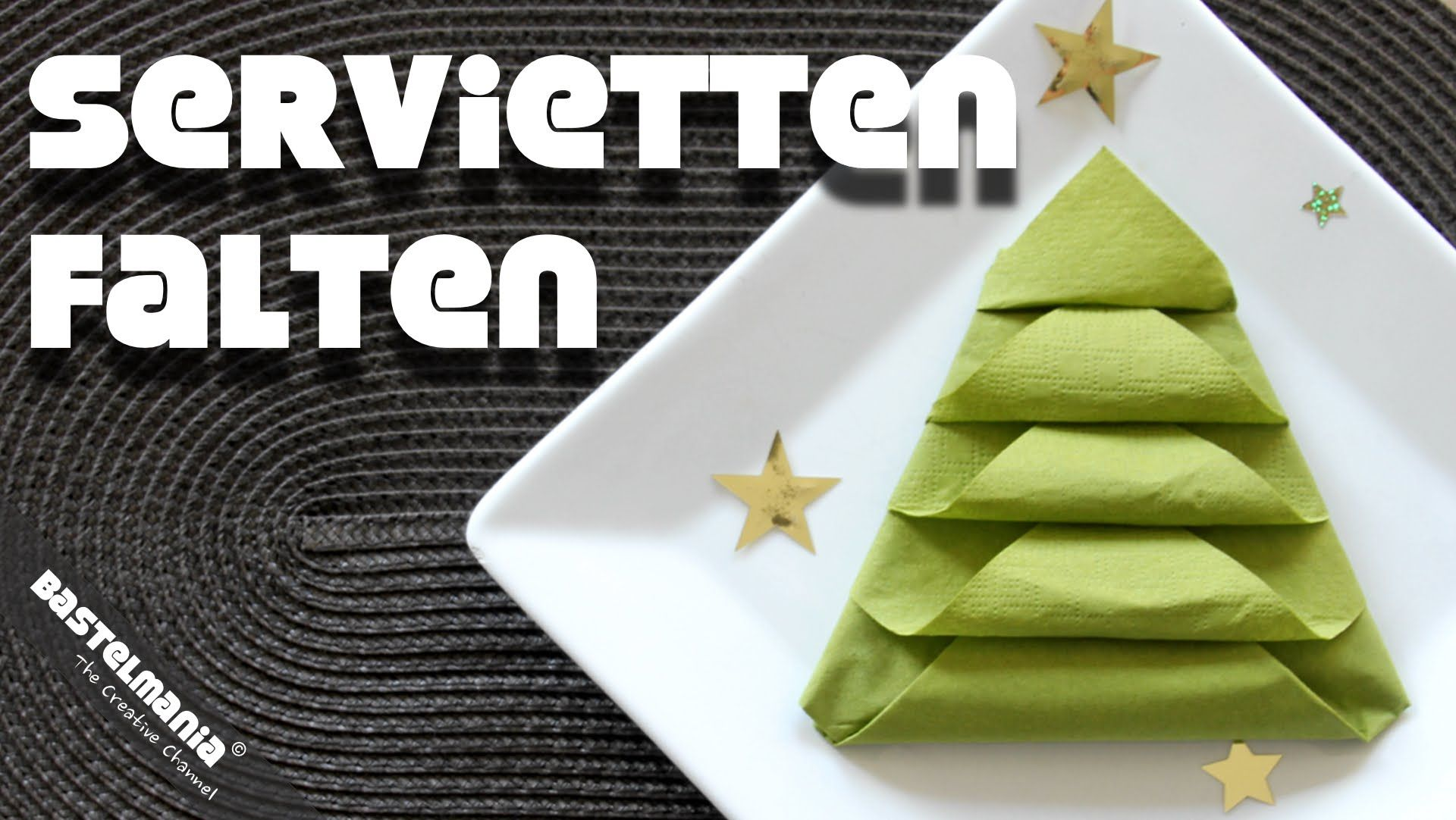 servietten falten anleitung tannenbaum weihnachten diy napkin folding instruction christmas tree. Black Bedroom Furniture Sets. Home Design Ideas