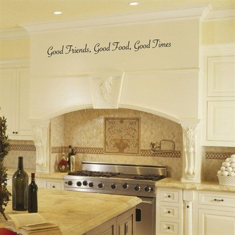 Good Friends Good Food Good Times Kitchen Vinyl Wall Decals - Custom vinyl wall decals sayings for kitchen