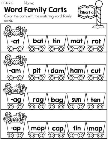 Best Cvc And Word Family Images On Pinterest Literacy Caps