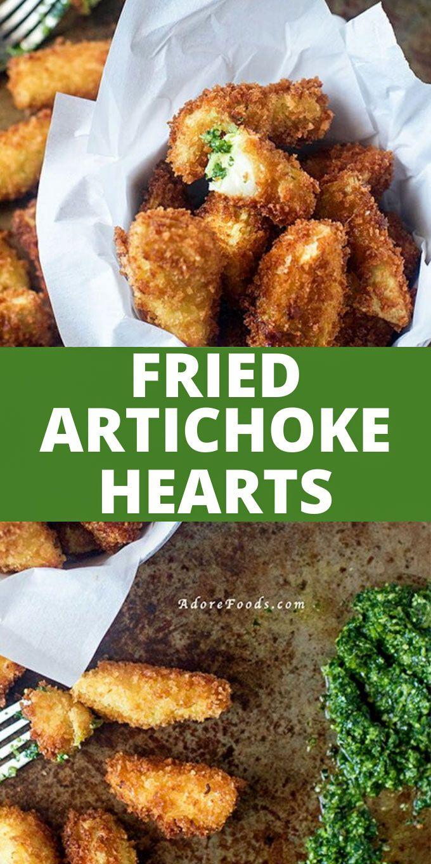 Photo of Crispy fried artichoke hearts with salsa verde