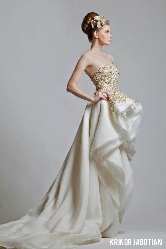 My favorite - Krikor Jabotian Gold and White Wedding Gowns ...