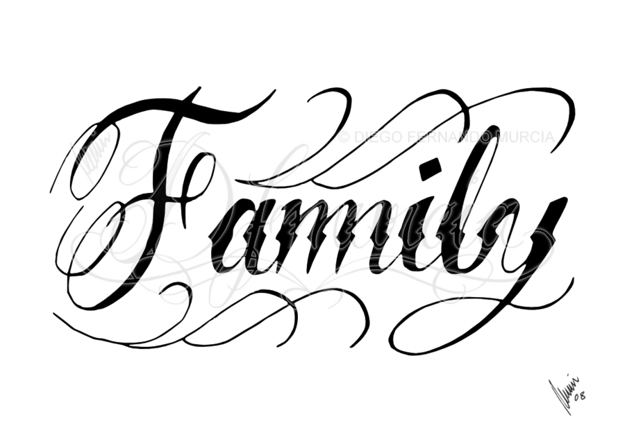 Family Black Family Tattoo Designs Family Tattoos Cursive Tattoos