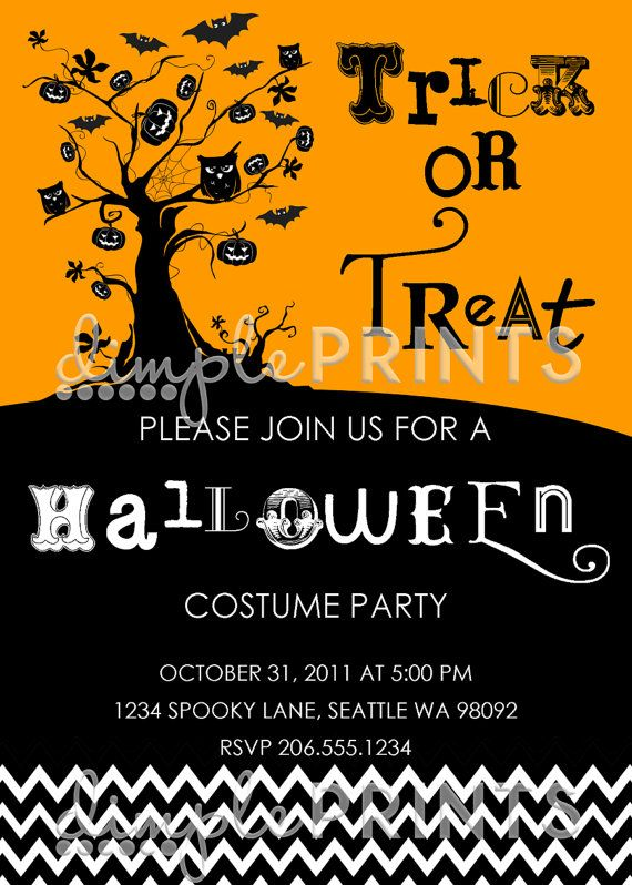 Halloween Printable Party Invitation by by Dimpleprints on Etsy - halloween decoration rentals