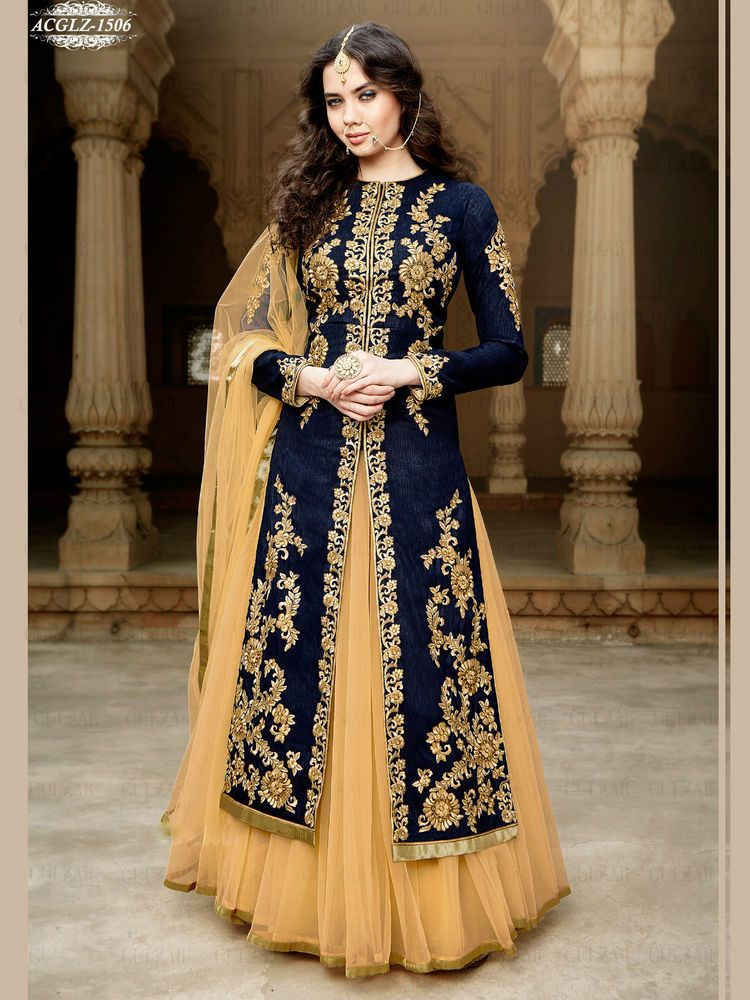 Indian Designer Dress Pakistani Bollywood Anarkali Suit Party Wear ...