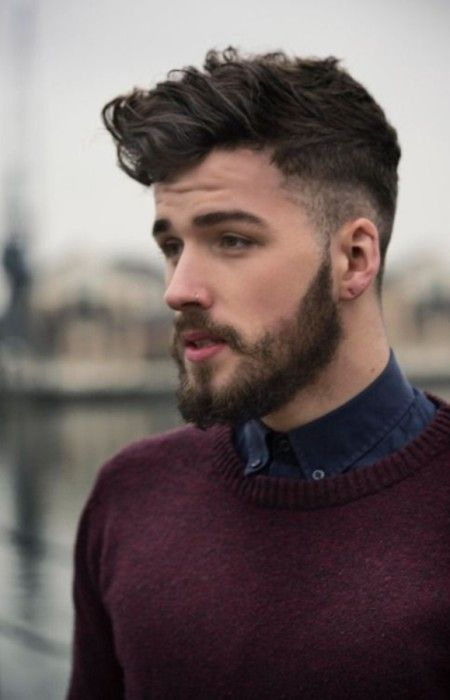 Curly Pompadour Hairstyle 2016 Beard Styles For Men