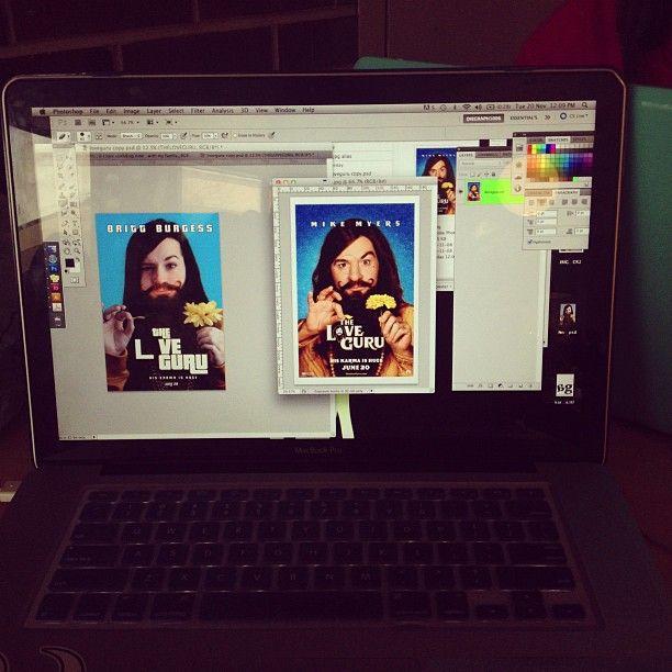 Work in progress, looking so legit hahahha @beeburgess  #graphicdesign #loveguru #love #sofunny #design #movieposter Work in progress, looking so legit hahahha @beeburgess  #graphicdesign #loveguru #love #sofunny #design #movieposter