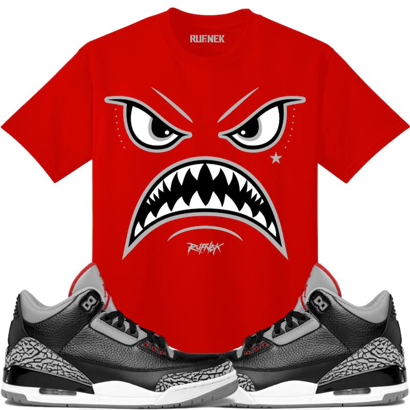56b0647afd880d Jordan 3 Black Cement Sneaker Tees Shirt - WARFACE