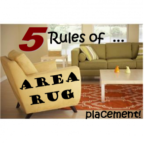 5 Rules Of Area Rug Placement
