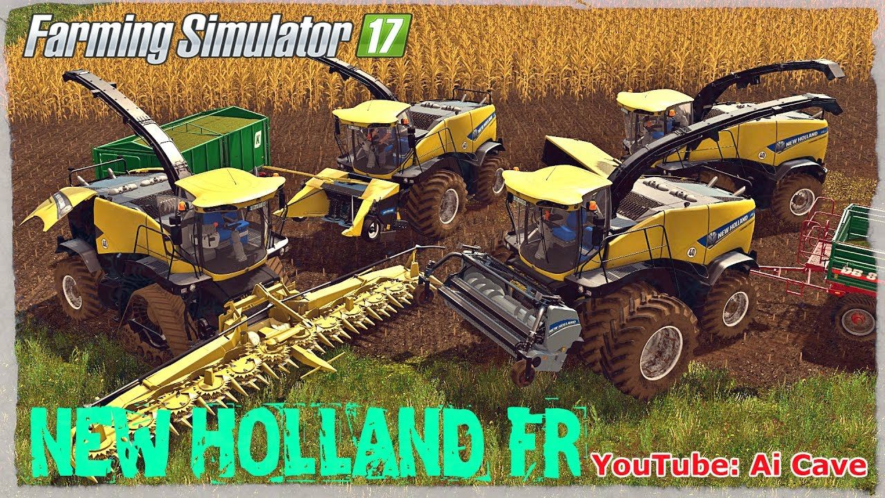 Farming Simulator 2017 NEW HOLLAND FR Forage Harvesters Mod by FBM