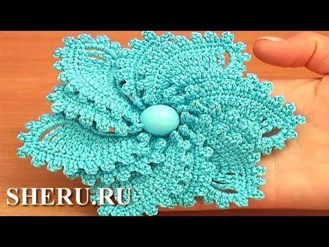 Crochet Spiral Petal Flower Урок 69 Цветок вязаный крючком ...