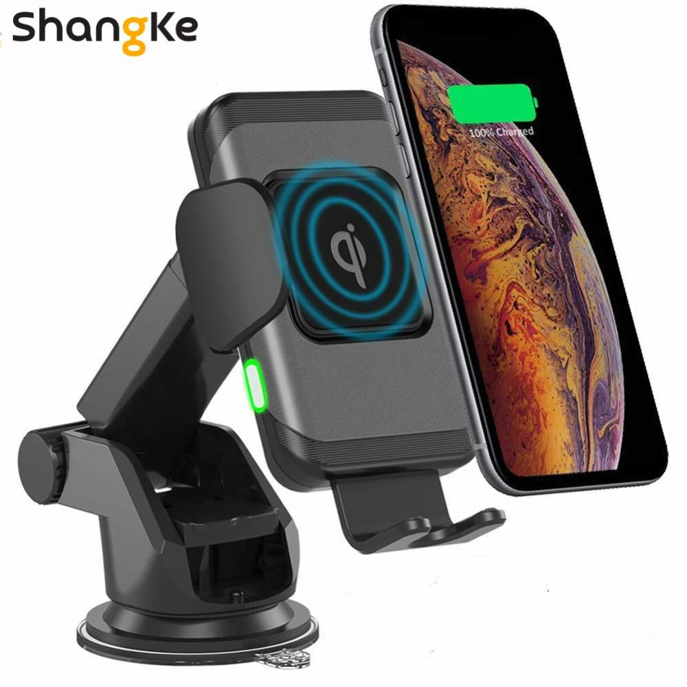 Compatible w//iPhone Xs|XS MAX|XR|X|8|8P // Samsung Galaxy S10//+|S9//+|S8//+ Car Cell Phone Wireless Charger Stand All QI Enabled Devices for Vehicle Dashboard and Air Vent 10W Fast Charging Dock