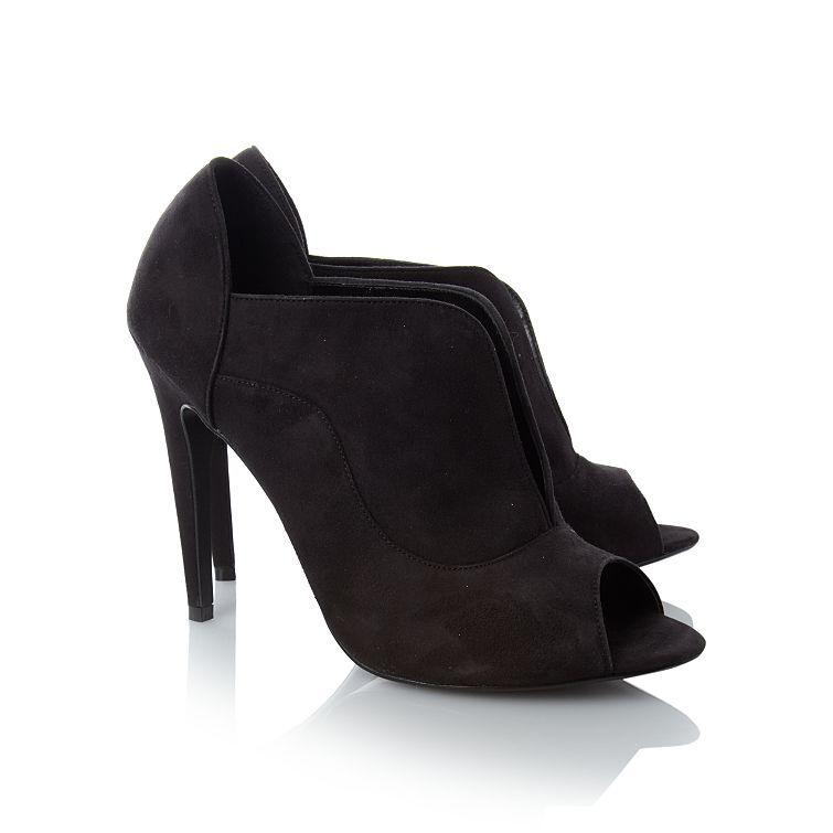 Suedette Peep Toe Shoe Boots | Women