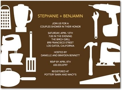 coed bridal shower invitation Co Ed Bridal Shower Wedding Talk