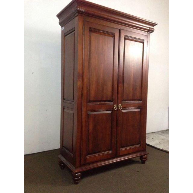 Image Of Ethan Allen British Classics Mahogany Armoire Wardrobe Door Designs Armoire Door Design Interior