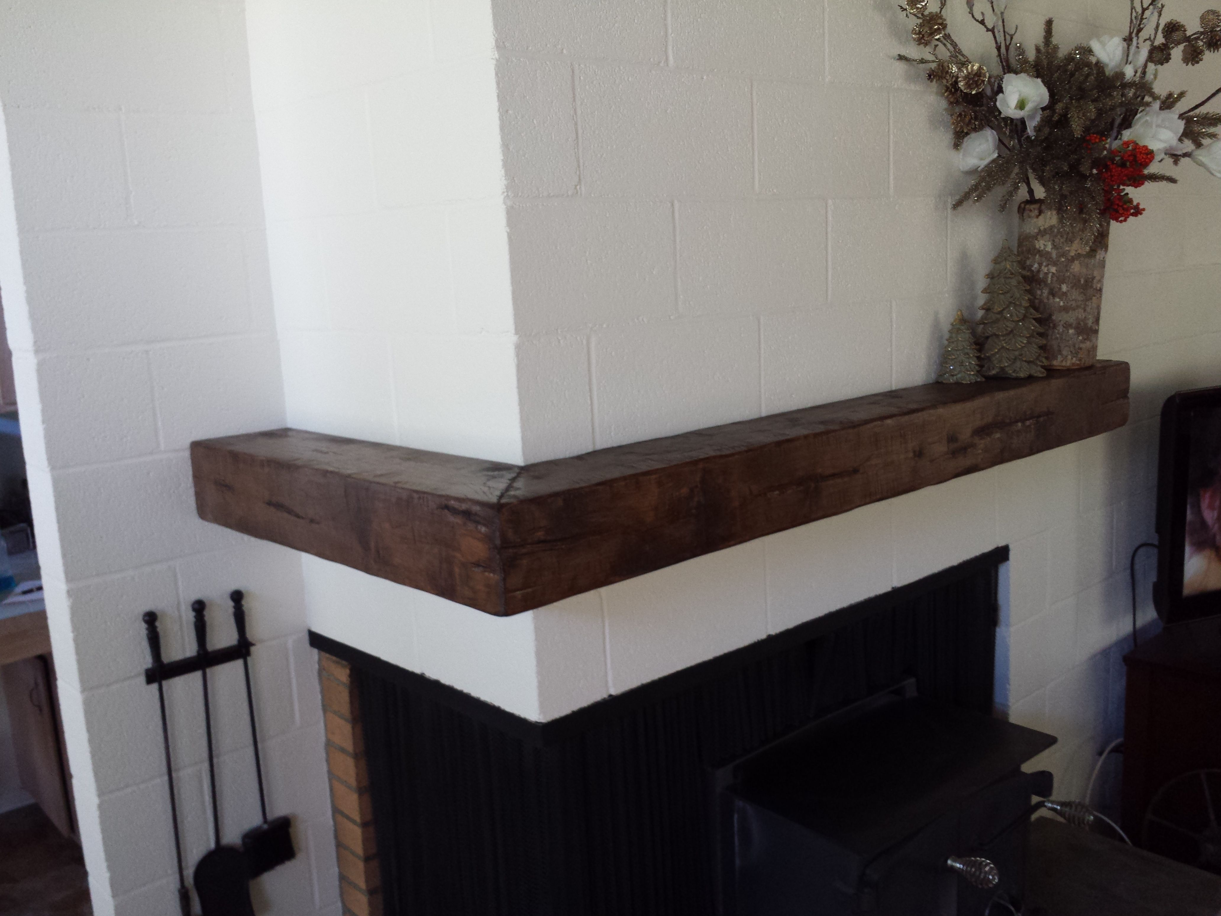 Corner Mantel Shelf Made From 3 4 Alder And Hand Distressed For That Vintage Lumber Look