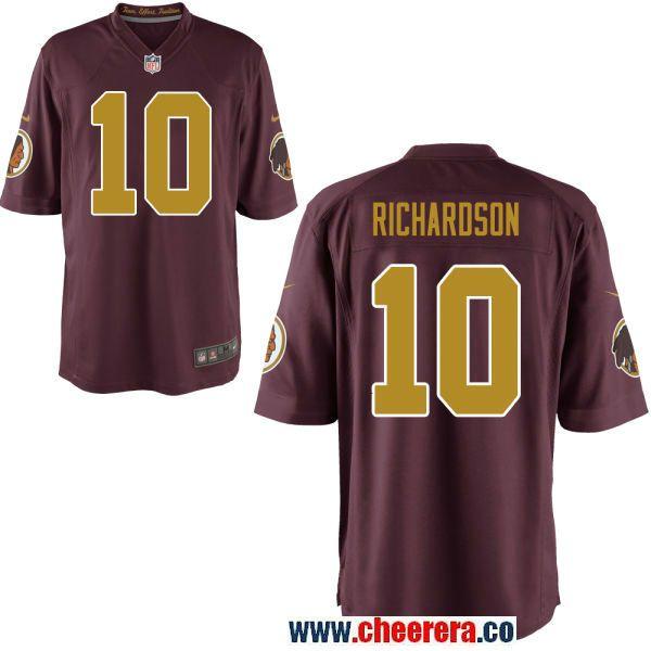 Men s Washington Redskins  10 Paul Richardson Red With Gold Alternate  Stitched NFL Nike Elite Jersey b4809ba9e