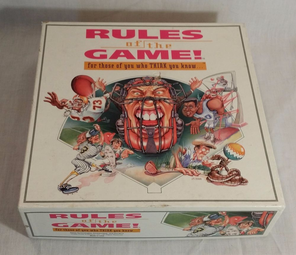 Rules of the Game Sports Trivia Board Baseball