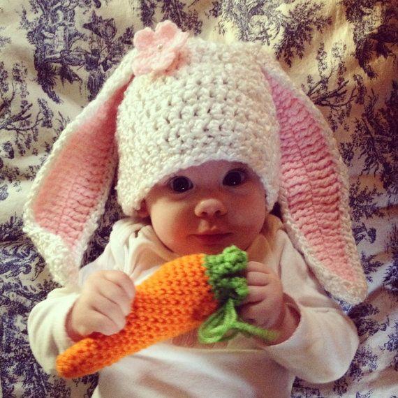 Häkeln Sie Bunny Hut häkeln Baby Bunny Hut von CherryBlossomShoppe ...