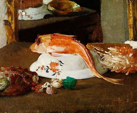 The Red Fish By The Belgian Artist Walter Vaes 1882 1958 Royal