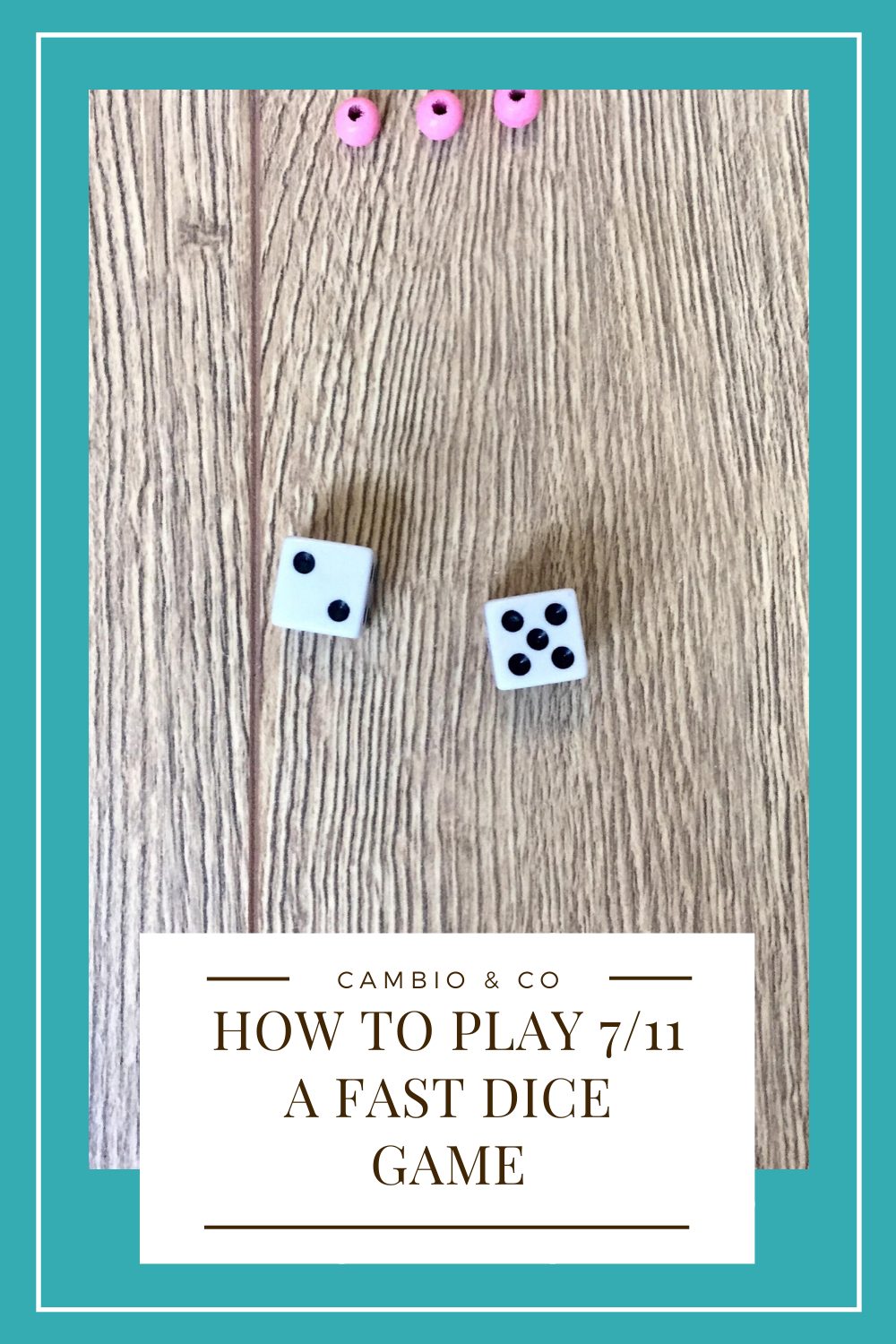 7 11 Is A Simple Dice Game All You Need Are Two Dice Some Tokens To Represent Lives And A Handful Of Friends The Aim Of The Dice Games Dots Game Game Dice