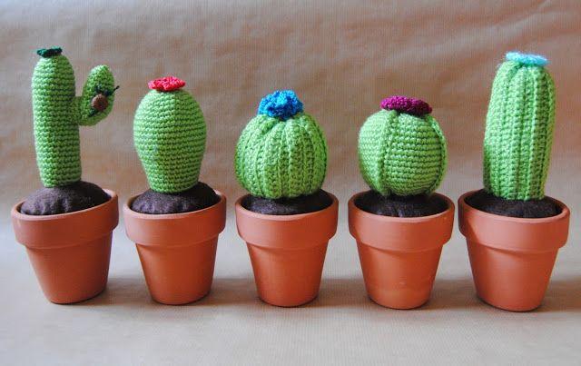 Amigurumi Cactus Tejido A Crochet Regalo Original : Large crocheted cactus with flowers cm cm crochet pot