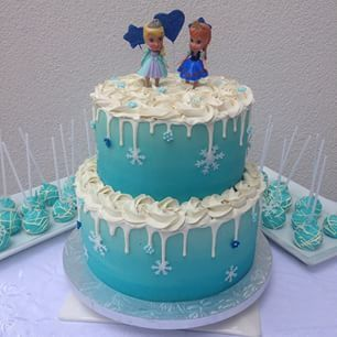 Simple Frozen Cake Google Search Frozen Birthday Cake