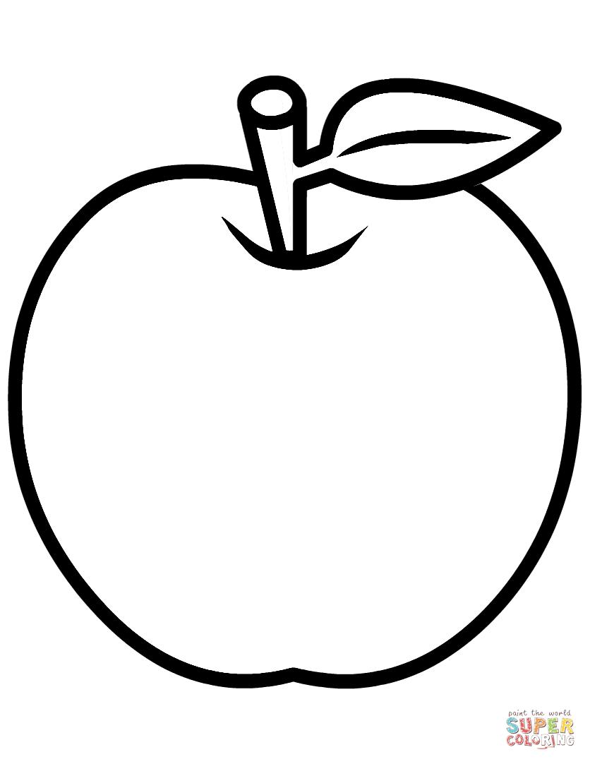 Apple Coloring Page Manzanas dibujo, Páginas para