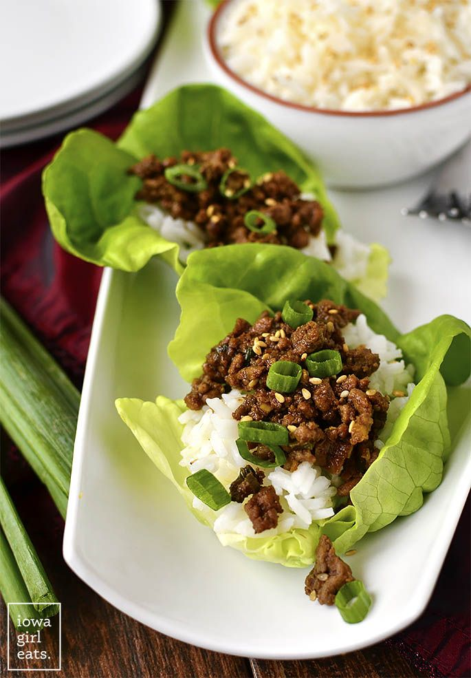 Korean Beef Lettuce Wraps Recipe With Images Beef Lettuce Wraps Beef Recipes Lettuce Wraps
