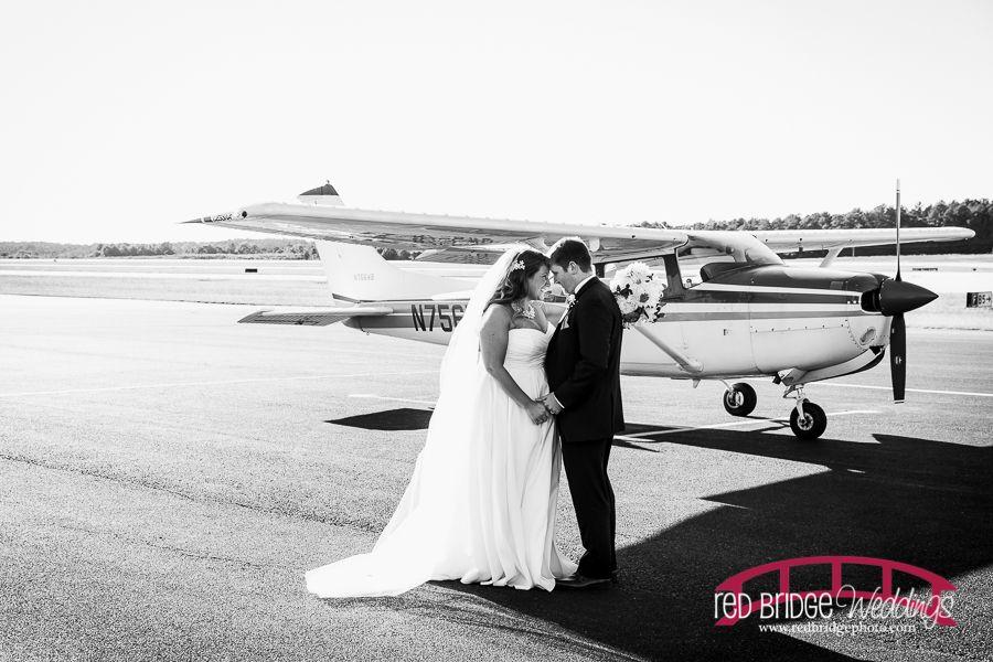 Kara & Michael Part II : RDU General Aviation Terminal Wedding Photography