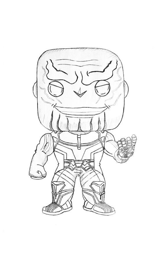 Dibujo Thanos Funko Pop Dibujos Portaminas Y Caracteres